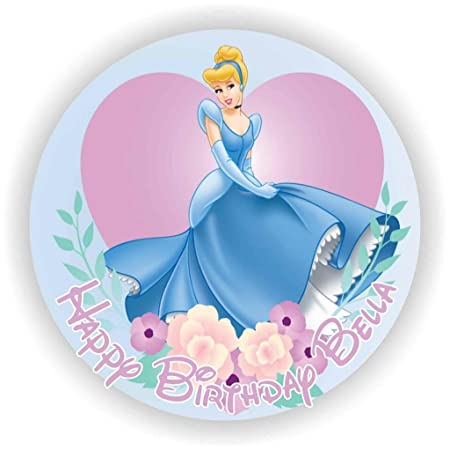 Excellent Birthday Bazaar Cinderella 1 Cake Topper 7 5 Rice Paper Birthday Cards Printable Inklcafe Filternl