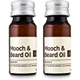 Ustraa Mooch and Beard Oil Woody for beard care (Set of 2, 35ml each)