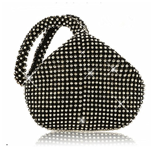 Handbag Rhinestones Purse Women Design Evening Ladies' Diamonds Prom Vintage Triangle Clutch Black Party for Wedding Crystal PHwqHB
