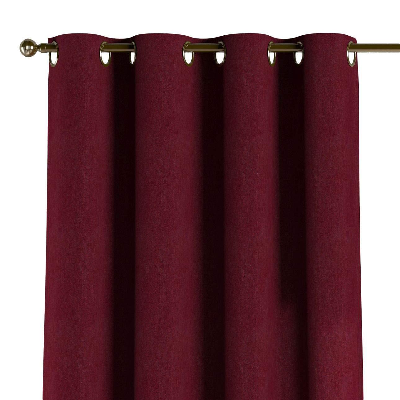 Dekoria Ösenschal Dekoschal Blickdicht 1 Stck. 130 × 260 cm Bordeaux Maßanfertigung möglich