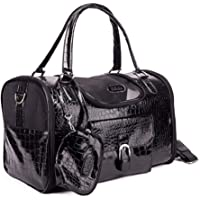 Small Animal Carrier-Airline Approved Dog/cat/Small Animal Carrier, Travel pet Bag(M-Black ≤ 4Kg)