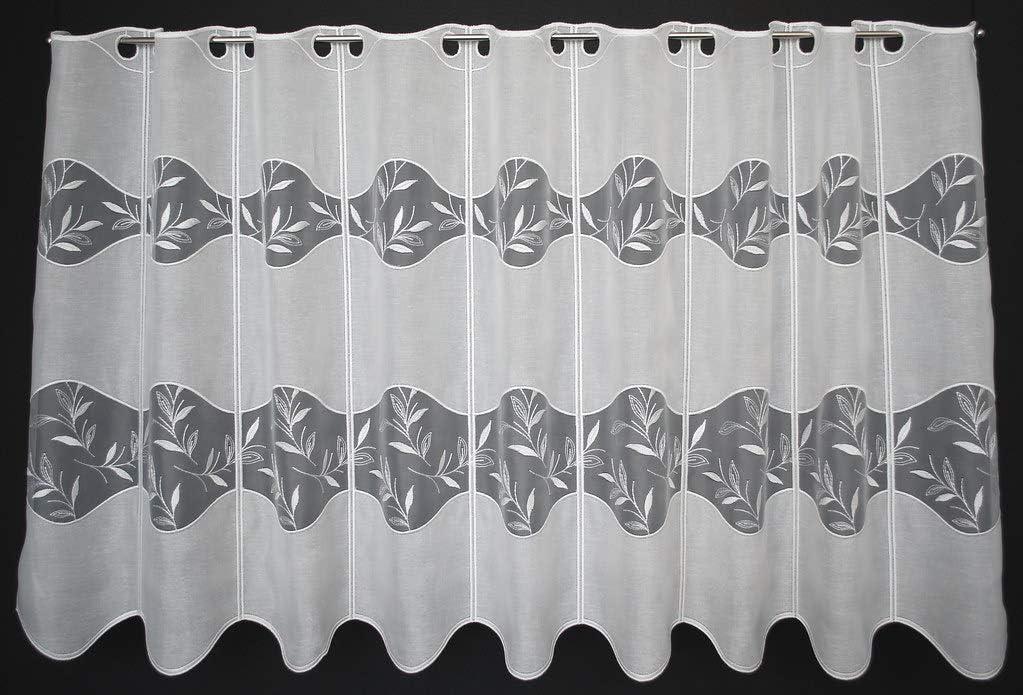 frankgardinen Scheibengardine Doppelstoff 60 cm hoch Natur Breite frei w/ählbar durch gekaufte Menge in 15,5 cm Schritten Fenster Gardine Kinderzimmer Wohnzimmer