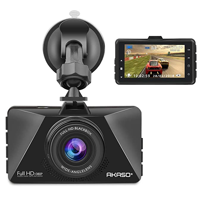 Amazon Com Akaso Dash Cam Fhd 1080p 3 Inch Screen Dash Camera 170