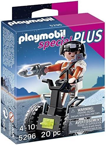 PLAYMOBIL Especiales Plus - Agente Secreto con Balance Racer, Juguete Educativo, Multicolor, 10 x 3,5 x 12,5 cm, (5296)