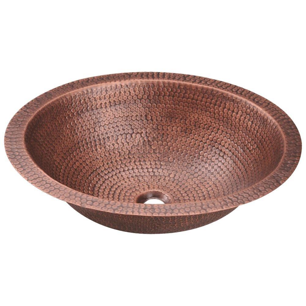 910 Single Bowl Oval Copper Sink