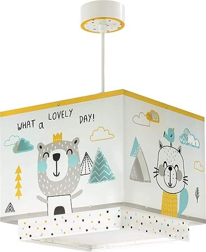 Oferta amazon: Dalber Lámpara infantil de Techo Colgante Hello Little Animales, Multicolor           [Clase de eficiencia energética A++]
