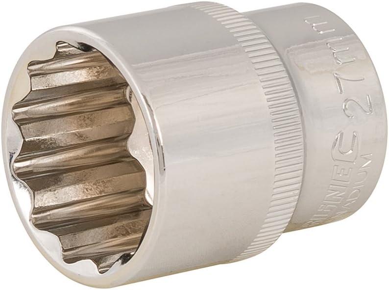 27 mm Silverline 436883 Vaso Bihexagonal M/étrico de 1//2