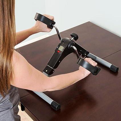 Kemket - Máquina de ejercicios de pedales, plegable, con pantalla ...