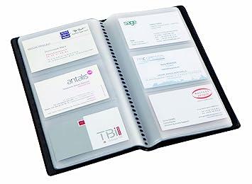 Alba CLASS120 Porte Cartes De Visite PVC Capacite 120 Noir