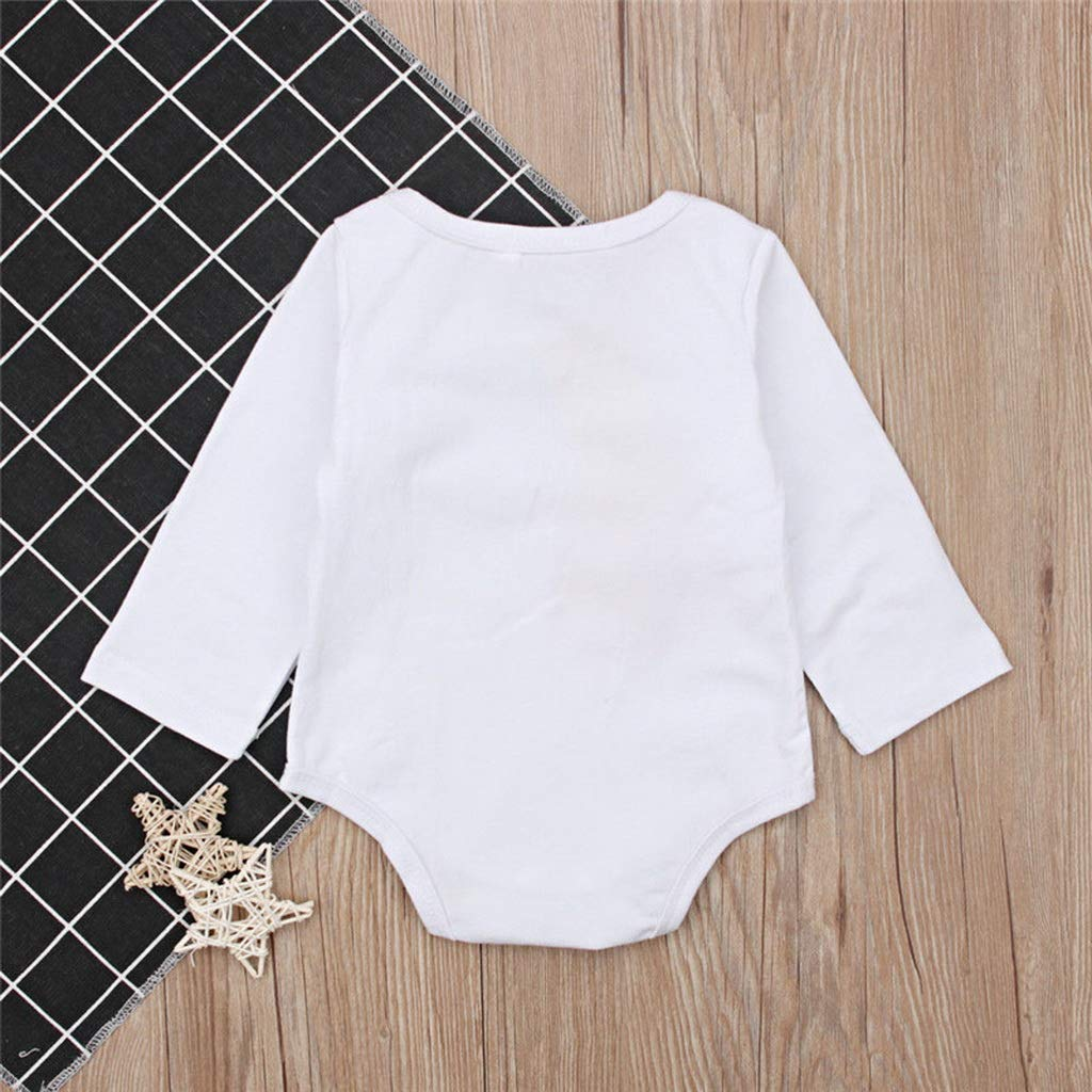 Newborn Toddler Baby Boys Girls Clothes Letter Print Cotton Jumpsuit Long Sleeve Kids Round Neck Bodysuit