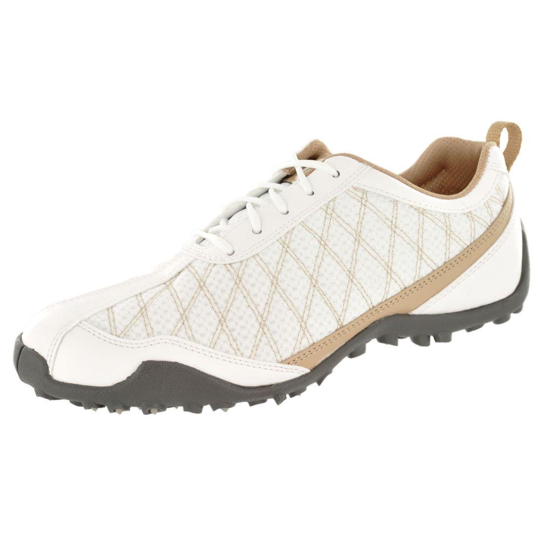 FootJoy Ladies Summer Series Golf Shoes 98847 White/Tan Womens Closeout New B00LU9J6SC 7 (M)