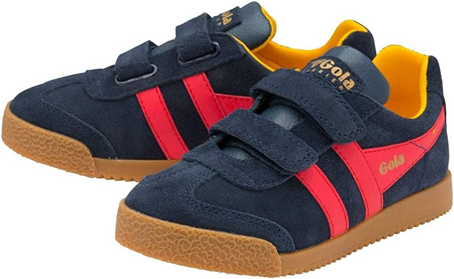 Gola Classics Harrier Boys Classic Trainers in Navy with Red
