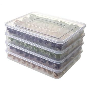 Contenedores de almacenamiento de alimentos, apilables, para nevera, congelador, caja de almacenamiento