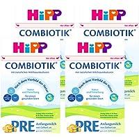 (跨境自营)(包税) Hipp喜宝 有机益生菌奶粉PRE段0-3个月 4盒装(4 * 600g)