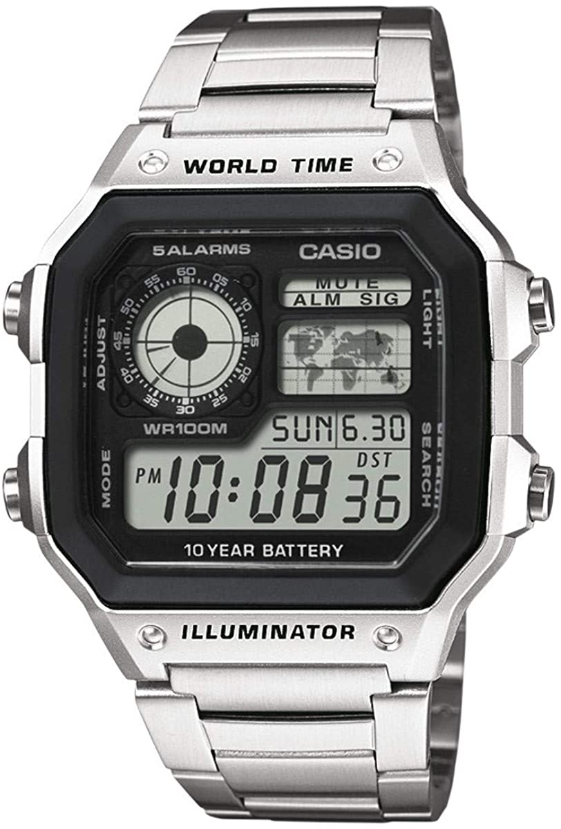 Casio Montres bracelet AE 1200WHD 1AVEF: : Montres