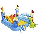 Intex 57138 - Playcenter Castello, 185 x 152 x 107 cm, Giallo/Azzurro
