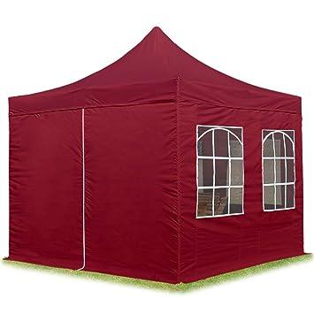 Klapp Falt Pavillon Dachmaß 3x3m Gartenzelt Partyzelt Party Zelt Pavillion Rot