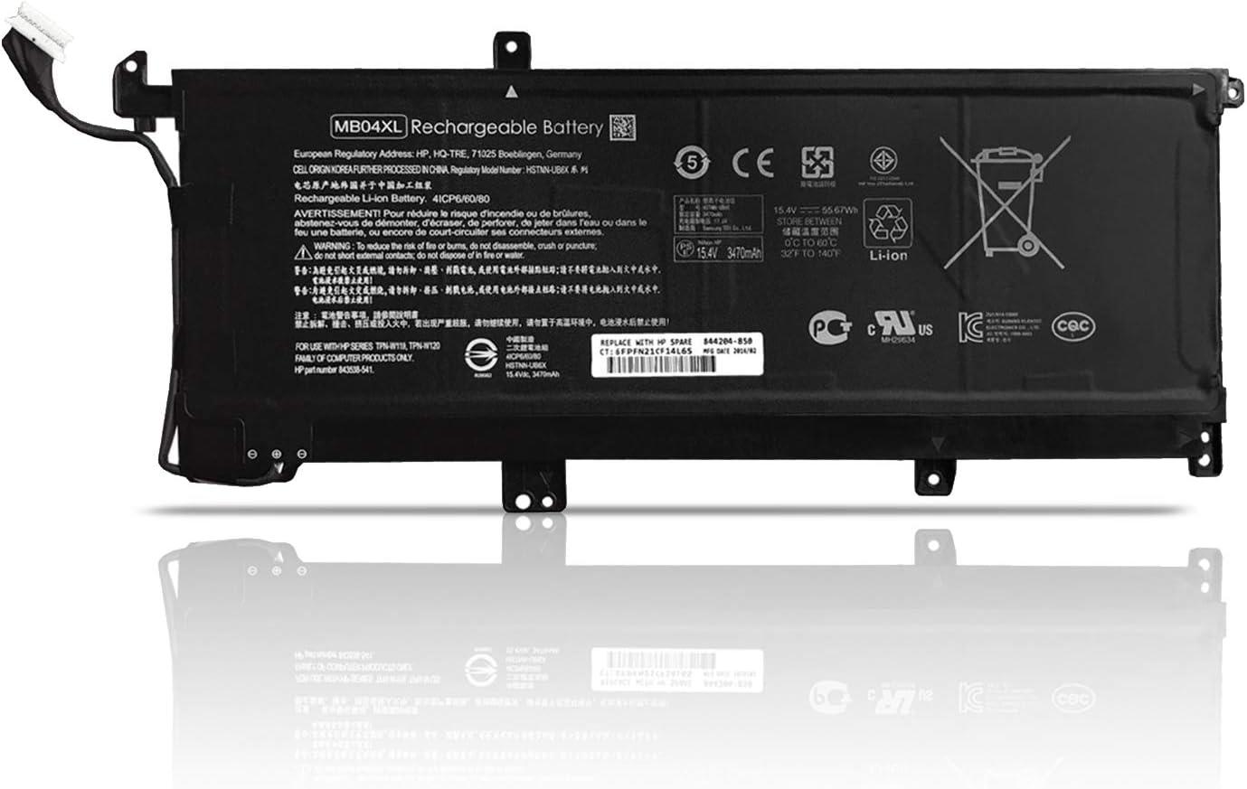 Dentsing 15.4V 55.67Wh MB04XL HSTNN-UB6X Laptop Battery Replacement for HP Envy X360 15-AQ102NA 15-AR002UR M6-AR004DX M6-AQ103DX PC 15 Convertible Series 844204-850 843538-541