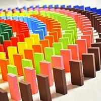 E Shopping Domino 120 PCS Wooden Blocks with Plastic Storage Box