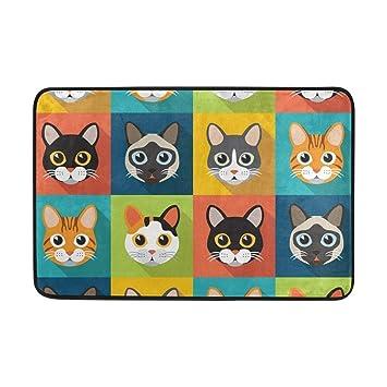 best bags - Felpudo para Gatos, Lavable al Aire Libre, para jardín, Oficina