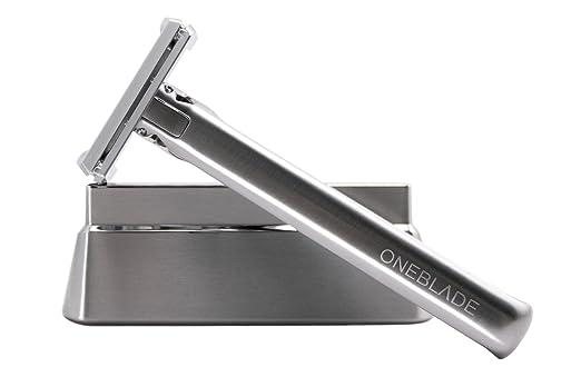 OneBlade Razor & Stand - Model 2.0 (includes 10 Feather FHS-10 Razor Blades)