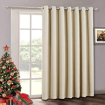 Amazon Com Sliding Door Curtain Drapes Room Darkening Light