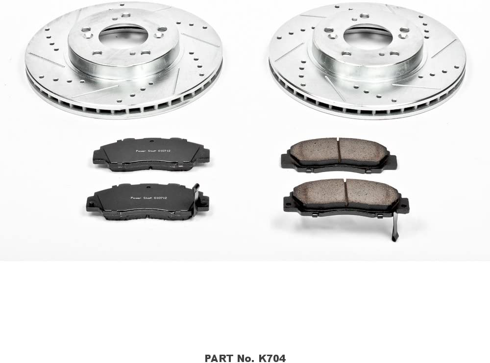 Power Stop K1586 Front Brake Kit with Drilled//Slotted Brake Rotors and Z23 Evolution Ceramic Brake Pads