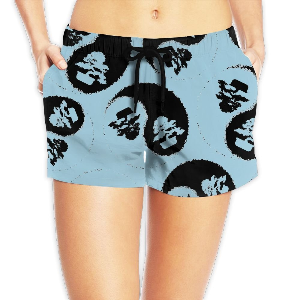 DE9h Pants Bonsai Tree Japanese Women Quick Dry Beach Shorts Casual Lightweight Surf Shorts With Pockets