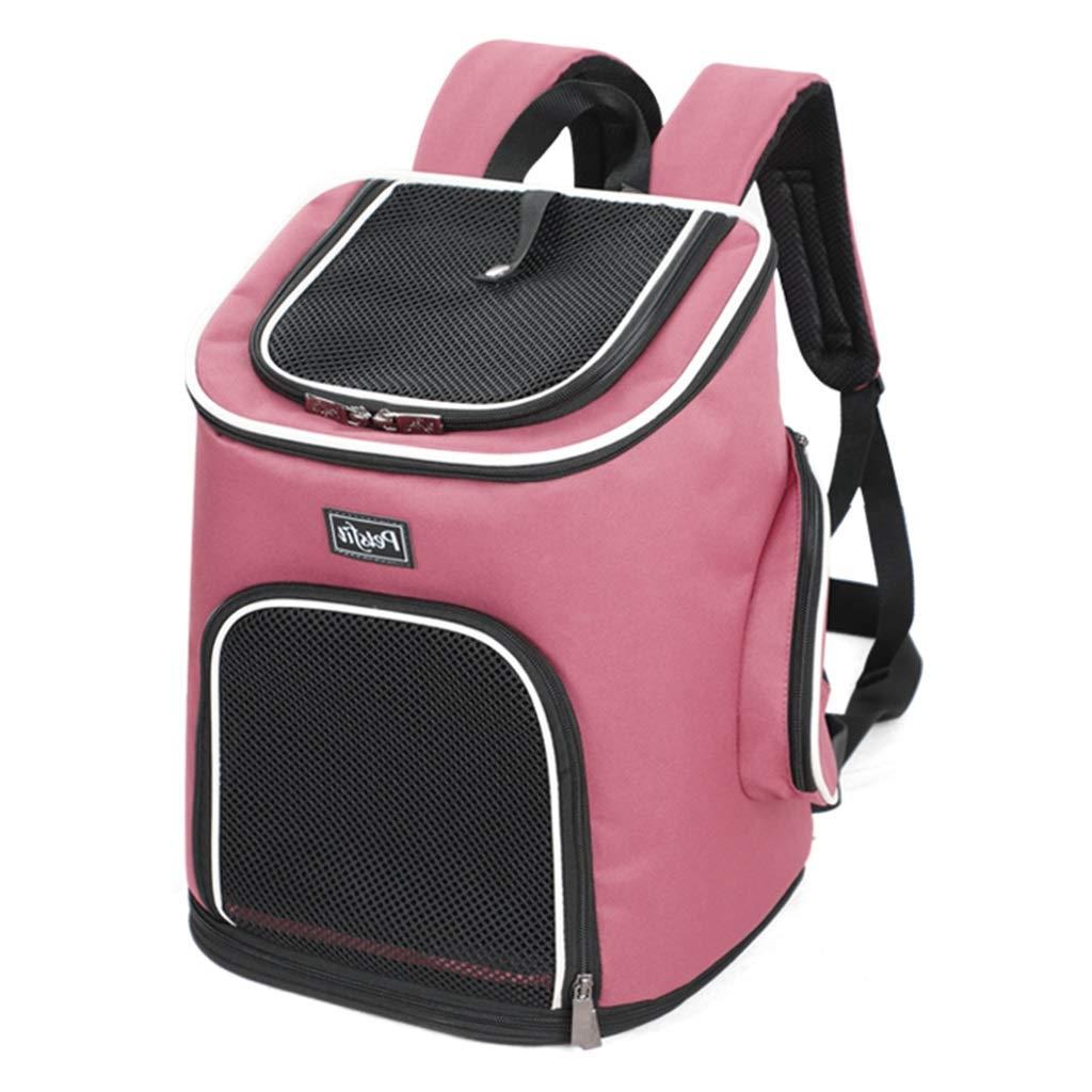 キャリーバッグスリング ペットバックパック オーバーバックバックパック 折りたたみ式犬小屋 携帯用猫バックパック ペット旅行用ハンドバッグ 家庭用通気性ペットテント 積載量8kg (Color : Blue, Size : 30*24*41cm) B07PNSLN64 Pink 30*24*41cm 30*24*41cm Pink