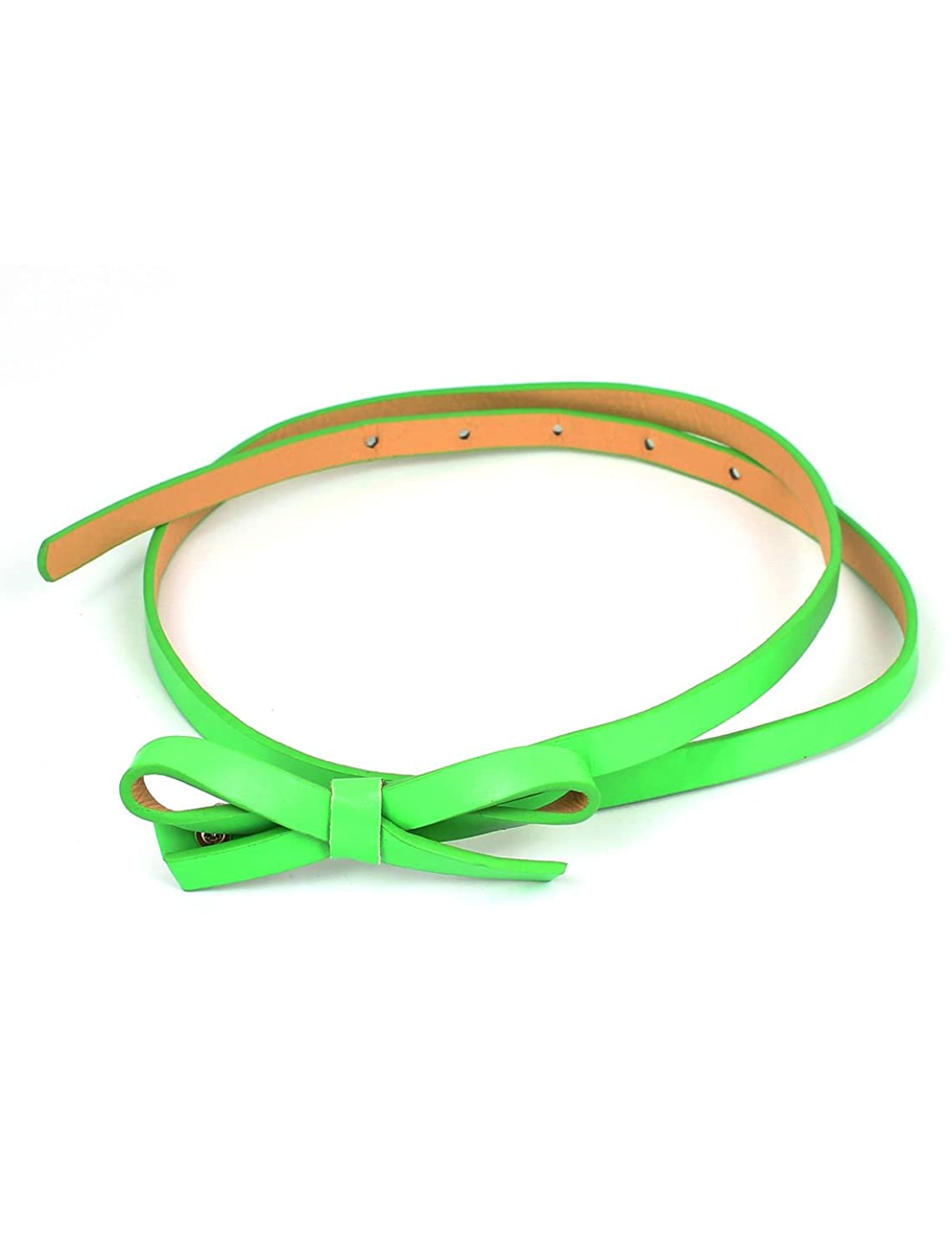 Butterfly Design Lady Press Buckle Slim Waist Belt Waistbelt Green