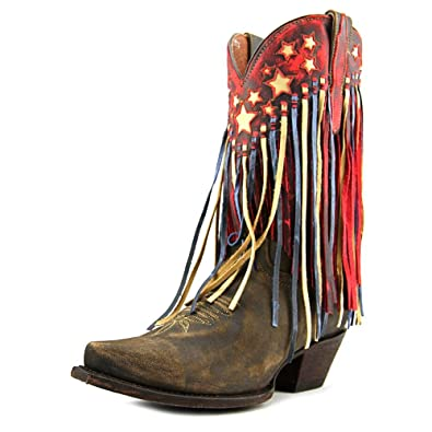 Dan Post Women's Liberty Fringe Mid-Calf Leather Boot