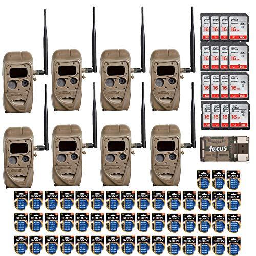 - Cuddeback CuddeLink 20MP Black Flash J-Series Trail Cameras (8-Pack Bundle) with Memory Cards and Focus USB Reader