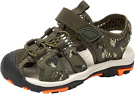 PPXID Boys Girls Leather Close Toe Outdoor Casual Sandal