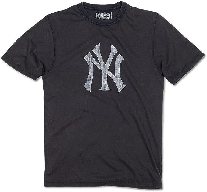 Nueva York Yankees Logo Vintage NY camiseta por chaqueta roja - 83410-SM, Marino: Amazon.es: Deportes y aire libre