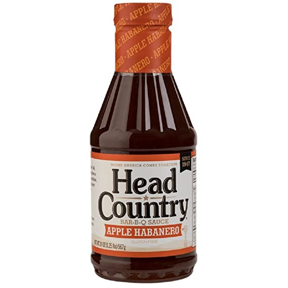 Salsa BBQ Head Country Apple Habanero (Manzana Habanero) - 567g (20 oz)