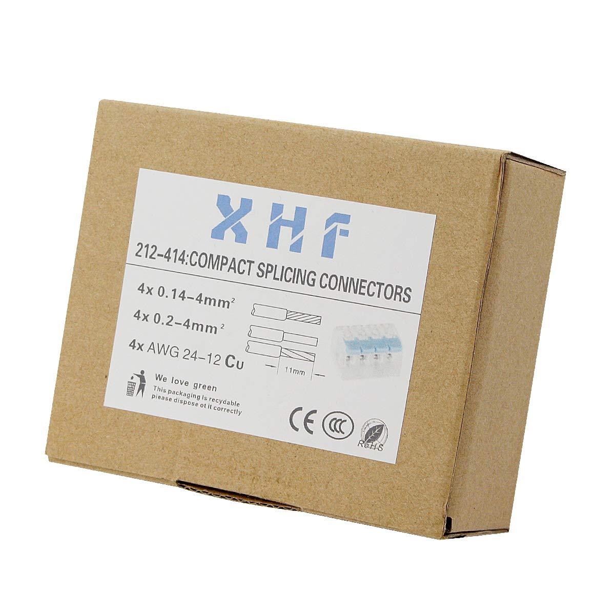 XHF2018 221-414 Lever-nuts4 Conductor Compact Splicing Connectors 10