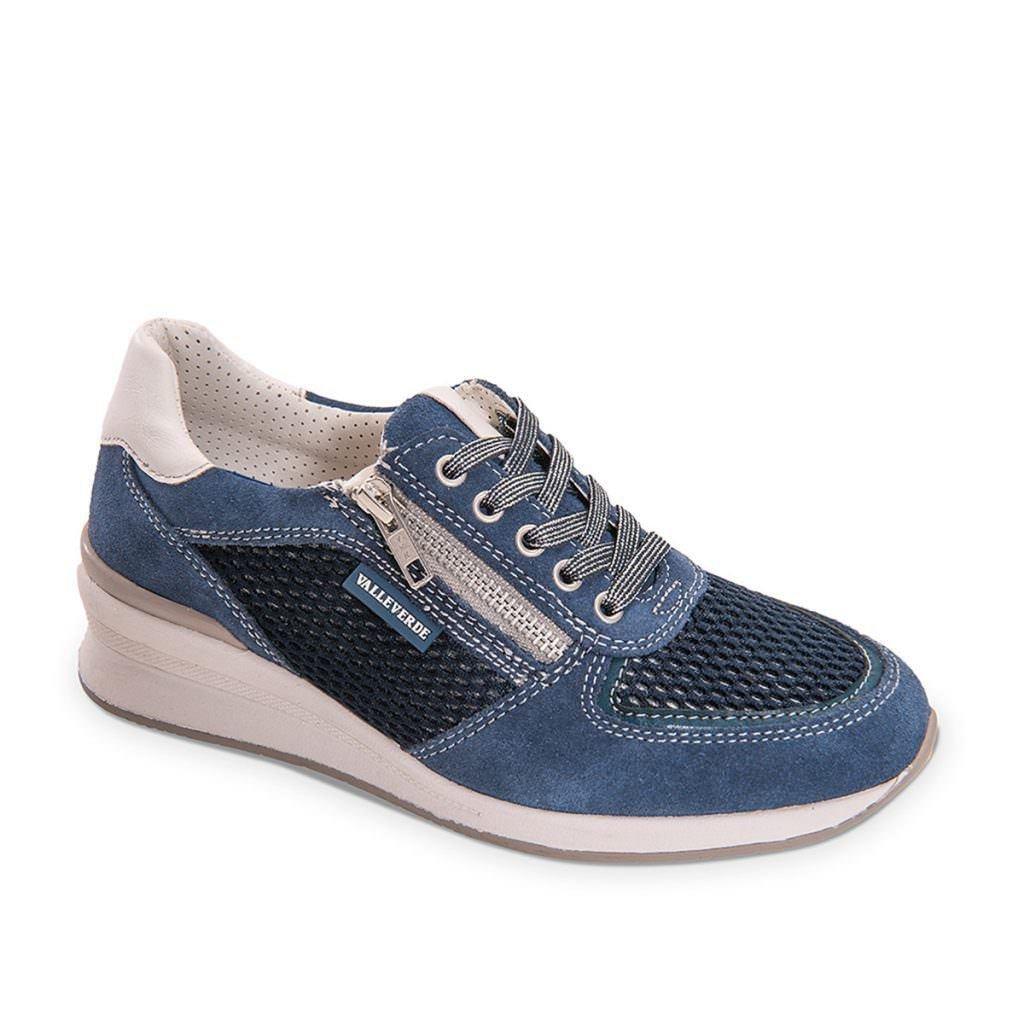 Valleverde Damen Niedrige Sneaker Sneaker Sneaker Blau dafd34