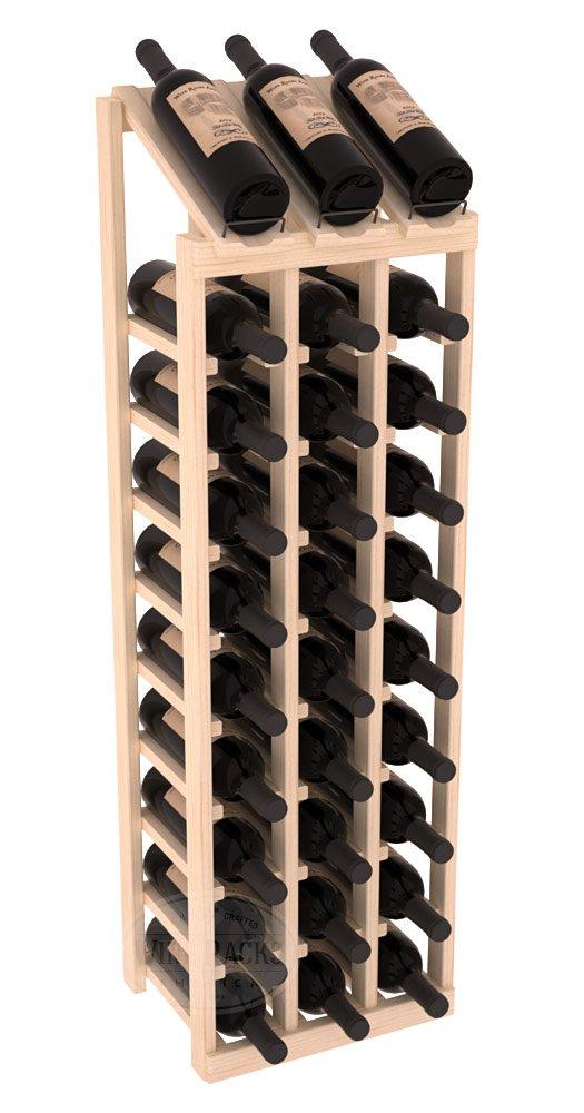 Wine Racks America Ponderosa Pine 3 Column 10 Row Display Top Kit. 13 Stains to Choose From! by Wine Racks America