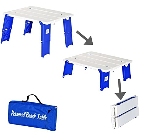 Lovely Compact Folding Beach Table