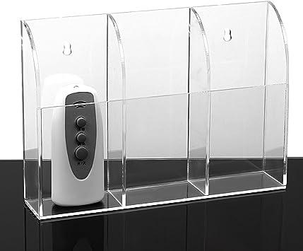 Zice - Soporte para control remoto de pared acrílico para aire acondicionado, caja de TV, estéreo 3 rejillas: Amazon.es: Electrónica