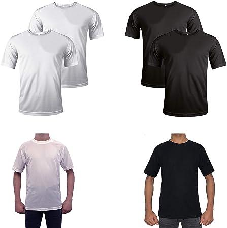 Prime Leather 821 - Camisetas sin Mangas, 100% poliéster, Ligeras, para Entrenamiento, Ejercicio, para Hombre, 821, 2 Pack White, Large
