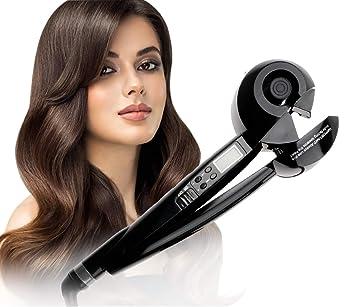 KWLET Profesional Automático Rizador de pelo giratoria, ironi Coco de cerámica y turmalina Curl Coco iónica para pelo Rizado, 2 pasador de pelo: Amazon.es: ...