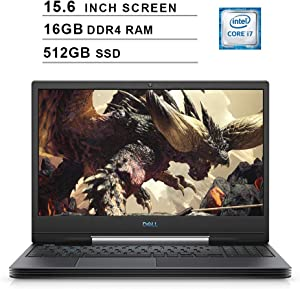 2020 Dell G5 15 5590 15.6 Inch FHD Gaming Laptop (9th Gen Intel 6-Core i7-9750H up to 4.5 GHz, 16GB RAM, 512GB SSD, NVIDIA GeForce RTX 2060, Bluetooth, WiFi, HDMI, Windows 10) (Black)