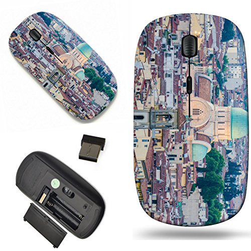 Luxlady Wireless Mouse Travel 2.4G Wireless Mice with USB Receiver, 1000 DPI for notebook, pc, laptop, macdesign IMAGE ID: 22581194 Jewish Synagogue of Florence from top (Florence Scroll)