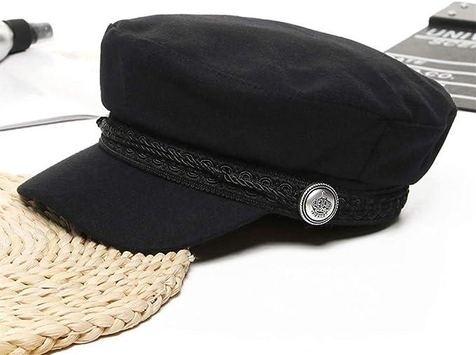 Sombrero de boina de lana de moda Sombrero de violinista negro ...