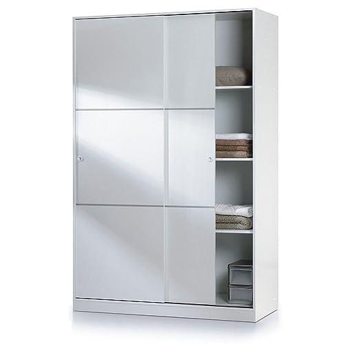 Habitdesign MAX020BO - Armario dos puertas correderas, acabado en Blanco Brillo, dimensiones: 200