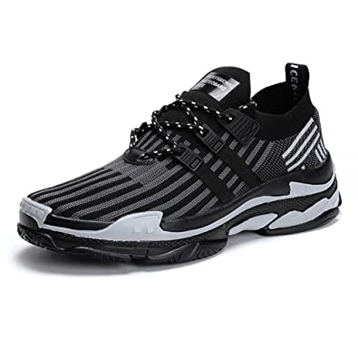TUOKING Herren Atmungsaktive Wanderschuhe Leichte Socke Schuhe Laufschuhe Jogger Schuhe nrQMIi