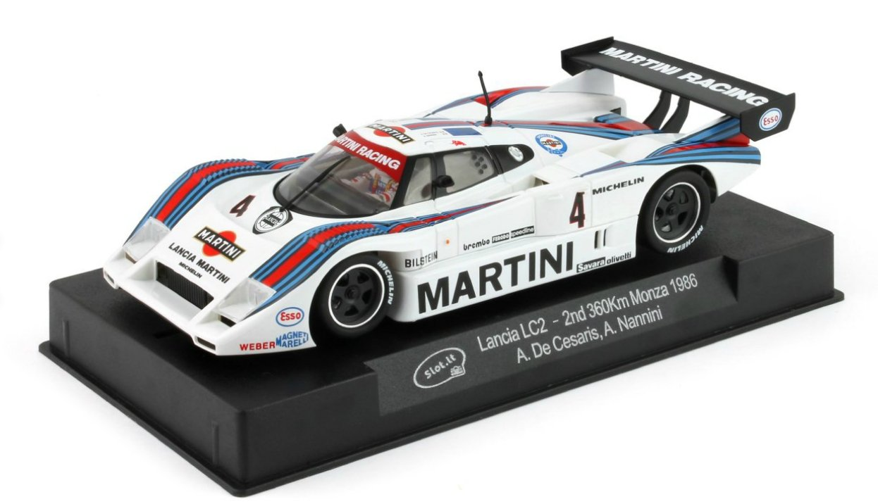Slot.it Lancia LC2 #4 2nd 360 km Monza 1986 Performance Slot Car (1:32 Scale)