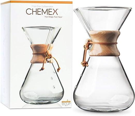 Chemex Hand Blown CM-4 | Cafetera de Filtro Manual de 13 Tazas ...