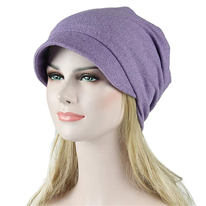 dede86a868900 Tenworld C Women Soft Comfy Chemo Cap Sleep Turban Hat Headwear for Cancer  Hair Loss  Amazon.ca  Clothing   Accessories